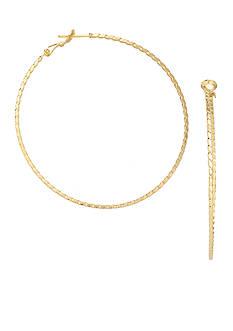 Belk Silverworks 24kt Over Fine Silver-Plated 40-mm. Round Twisted Diamond-Cut Hoop Earrings