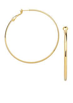 Belk Silverworks 24k Gold Over Fine Silver-Plated 40-mm. Hoop Earrings