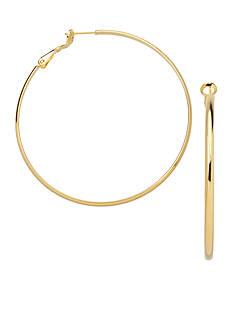 Belk Silverworks 24k Gold Over Fine Silver-Plated 60-mm. Round Hoop Earrings