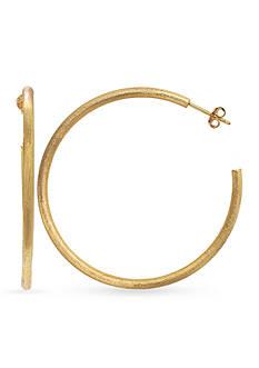 Belk Silverworks 24k Gold Over Fine Silver Plate 50-mm. Hoop Earrings