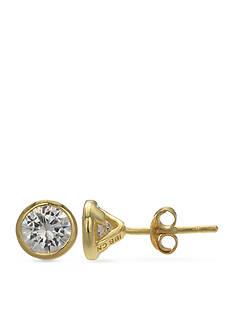 Belk Silverworks Cubic Zirconia Bezel Stud Earrings