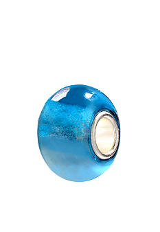 Belk Silverworks Iridescent Blue Glass Originality Bead