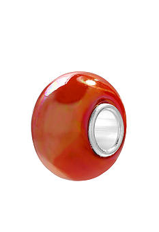 Belk Silverworks Orange Iridescent Glass Originality Bead