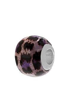 Belk Silverworks Purple Leopard Print Originality Bead