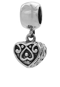 Belk Silverworks Drop Heart Prayer Box Originality Bead