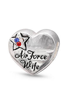 Belk Silverworks Sterling Silver Air Force Wife Originality Bead