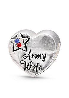 Belk Silverworks Sterling Silver Army Wife Originality Bead