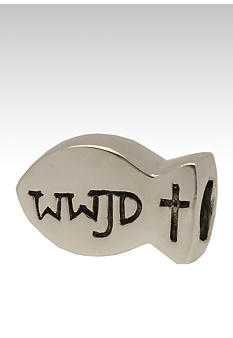 Belk Silverworks What Would Jesus Do Fish Originality Bead
