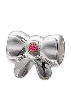 Belk Silverworks Sterling Silver Pink Crystal Bow Originality Bead