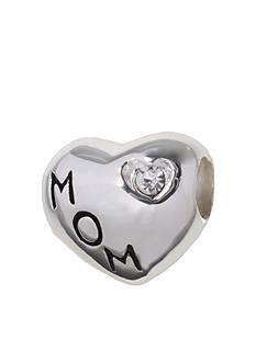 Belk Silverworks MOM Heart Crystal Originality Bead