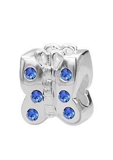 Belk Silverworks Blue Crystal Butterfly Originality Bead
