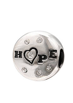 Belk Silverworks Sterling Silver Hope Crystal Originality Bead