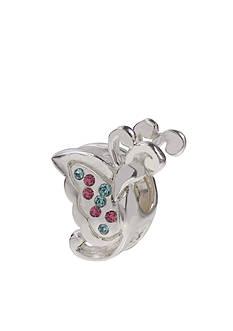 Belk Silverworks Aqua & Pink Butterfly Originality Bead Charm