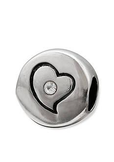 Belk Silverworks Sterling Silver Round Crystal Heart Originality Bead