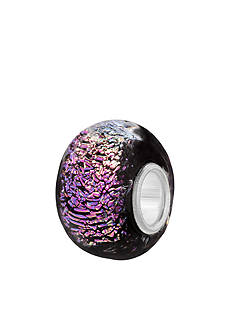Belk Silverworks Purple Dichroic Glass Originality Bead