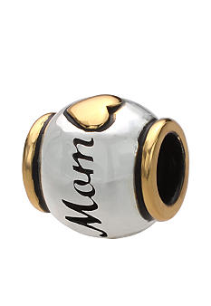 Belk Silverworks Two Tone Mom Heart Originality Bead