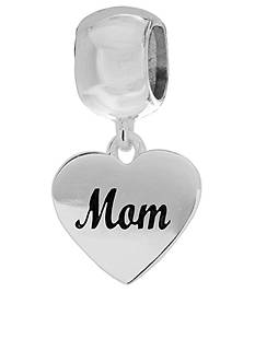 Belk Silverworks Heart Mom Dangling Originality Charm