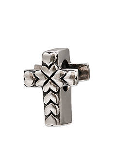Belk Silverworks Sterling Silver Cross with Heart Detail Originality Bead