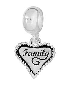 Belk Silverworks Drop Heart 'Family' Originality Charm