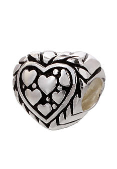 Belk Silverworks Heart Shaped Originality Bead
