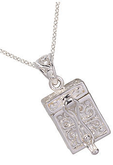 Belk Silverworks Fine Silver Plated 'Faith, Hope and Love' Prayer Box Pendant