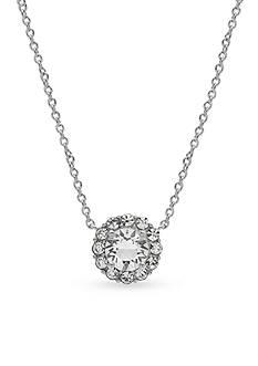 Belk Silverworks Fine Silver Plated Round Swarovski Crystal Necklace