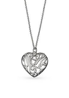 Belk Silverworks Mom's Day Silver Tone Mom Heart Pendant