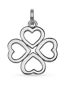 Belk Silverworks Charm Bar Heart Flower Charm