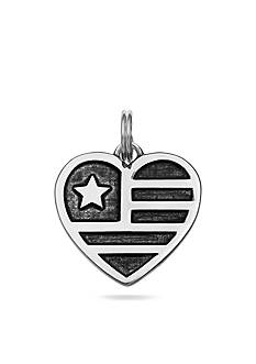 Belk Silverworks Charm Bar USA Flag Heart Charm