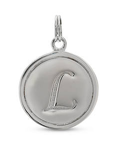 Belk Silverworks Fine Silver Plated Charm Bar Letter Disc Charm