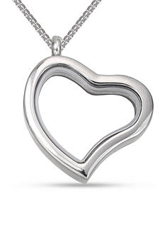 Belk Silverworks Charming Lockets Stainless Steel Heart Locket Necklace