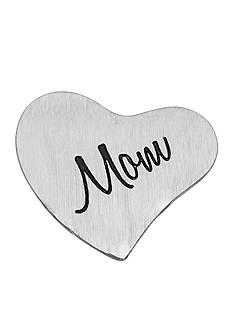 Belk Silverworks Charming Lockets Brushed Heart Mom Charm