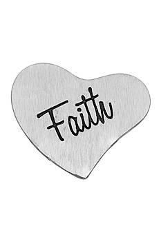 Belk Silverworks Charming Lockets Heart Shaped Faith Charm