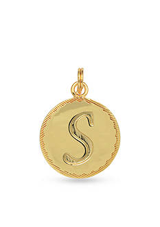 Belk Silverworks Gold-Plated Charm Bar Letter Disc Charm