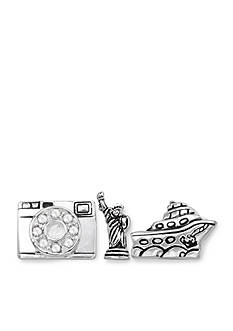 Belk Silverworks Charming Lockets Set Sail Set of Three Charms