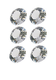 Belk Silverworks Charming Lockets Clear Crystal Set of Six Crystals