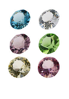 Belk Silverworks Charming Lockets Spring Sky Set of Six Crystals