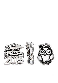 Belk Silverworks Charming Lockets Class of 2015 Celebrations Graduation Set of 3 Charms