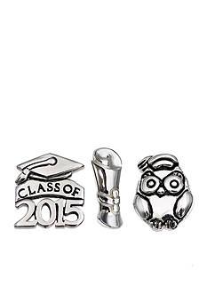 Belk Silverworks Charming Lockets Class of 2015 Celebrations Graduation Set of 3 Charms