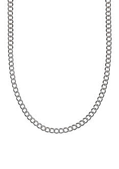 Belk Silverworks Fine Silver Plated Twisted Oval Link Chain Necklace