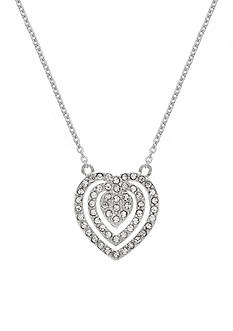 Belk Silverworks Fine Silver Plated Swarovski Crystal Heart Necklace