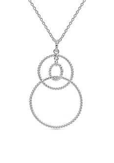 Belk Silverworks Fine Silver Plated Circle Drop Necklace