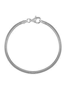 Belk Silverworks Milano Silver 9-In. Snake Originality Bead Bracelet