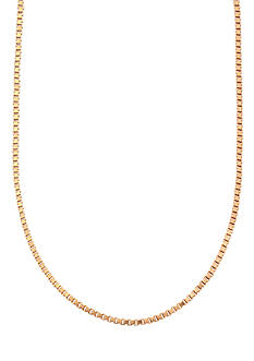 Belk Silverworks 24kt Gold Over Milano Silver 16-Inch Box Chain
