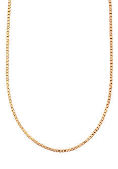 Belk Silverworks 24kt Gold Over Milano Silver 30-Inch Box Chain