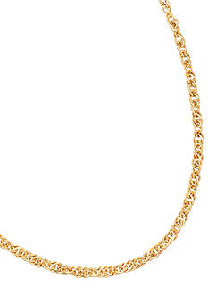Belk Silverworks 24kt Gold Over Milano Silver 20-Inch Singapore Chain