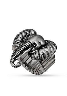 Jules B Silver-Tone Elephant Stretch Ring