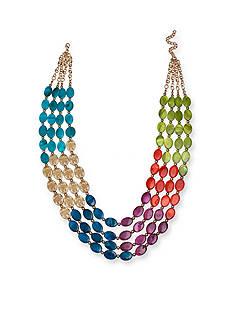 Jules B Gold-Tone Kaleidoscope Multistrand Necklace