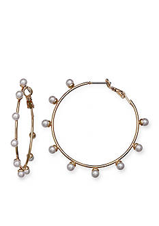 Jules B Pearls Night Out Pearl Hoop Earrings