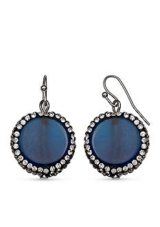 Jules B Silver-Tone In Living Color Lapis Drop Earrings